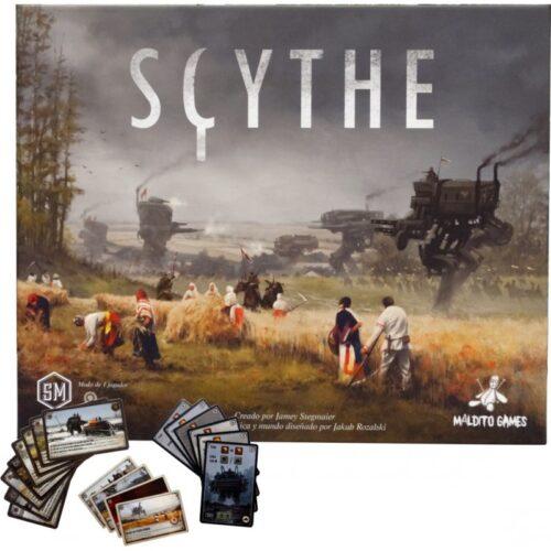 Scythe el juego de mesa editado en castellano por Maldito Games. Comprar Scythe en EGD Games.