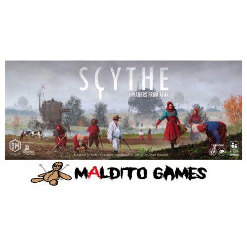 Scythe Invasores de Tierras Lejanas el juego de mesa editado en castellano por Maldito Games. Comprar Scythe Invasores de Tierras Lejanas en EGD Games