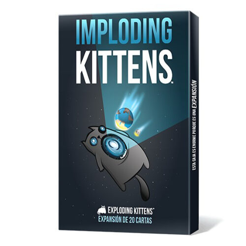 Exploding Kittens Imploding Kittens el juego de mesa editado por Asmodee. Comprar Exploding Kittens Imploding Kittens en EGD Games.