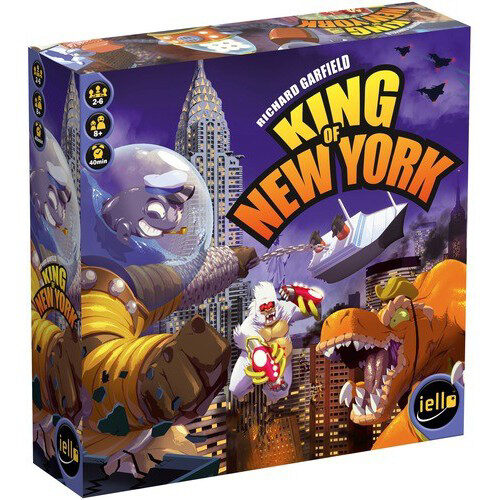King of New York el juego de mesa editado en castellano por Devir. Comprar King of Tokyo New York en EGD Games.