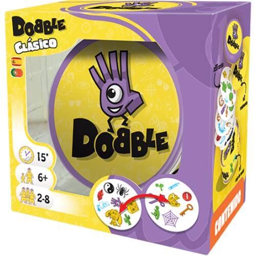 Dobble Clásico el juego de mesa editado en castellano por Asmodee. Comprar Dobble Clásico en EGD Games