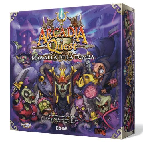 Arcadia Quest Más Allá de la Tumba el juego de mesa editado en castellano por Edge Entertainment