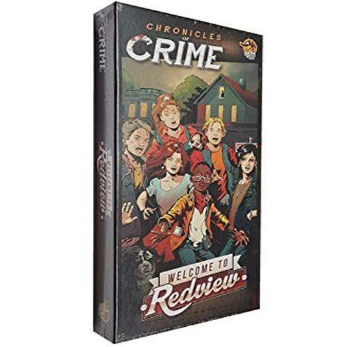Crónicas del Crimen Bienvenidos a Redview el juego de mesa editado en castellano por EGD Games. Comprar Crónicas del Crimen Bienvenidos a Redview en EGD Games