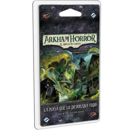 Arkham Horror LCG La MAsa Que Lo Devoraba Todo el juego de mesa editado en castellano por FAntasy Flight Games. Comprar Arkham Horror La MAsa que lo Devoraba Todo en EGD Games.