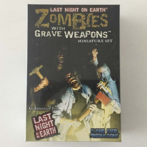 Last Night on Earth Zombies With Grave Weapons el juego de mesa editado por Flying Frog Productions. Comprar Last Night On Earth Zombies With Grave Weapons en EGD Games.