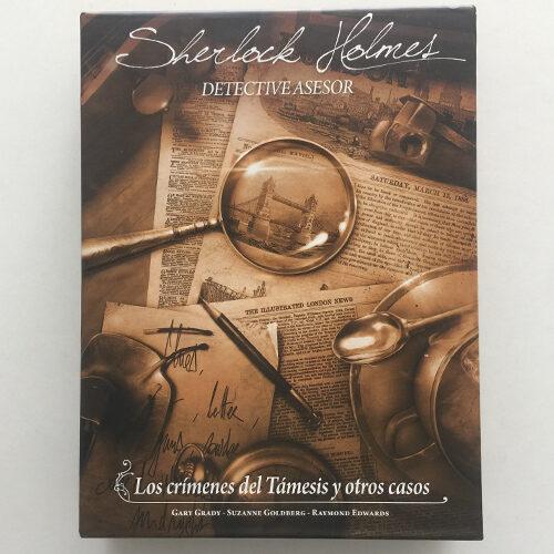 Sherlock Holmes Los Crímenes del Támesisi y otros Casos el juego de mesa editado en castellano por Asmodee. Comprar Sherlock Holmes Los Crímenes del Támesis y Otros Casos en EGD Games