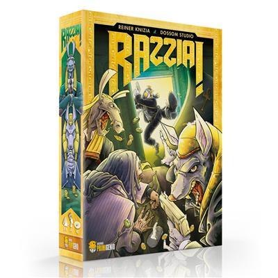 Razzia! el juego de mesa editado en castellano por Ediciones Primigenio. Comprar Razzia! en EGD Games