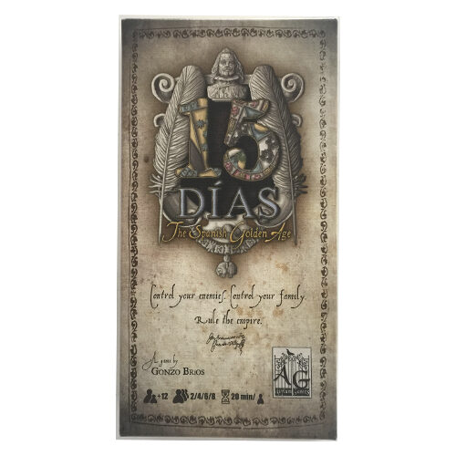 15 Días el juego de mesa editado en castellano por Asylum Games. Comprar 15 Días en EGD Games
