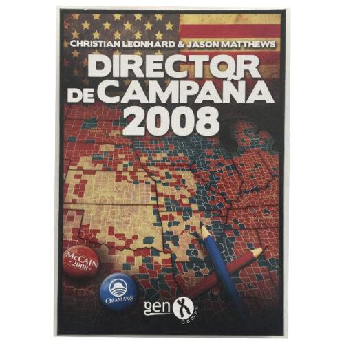 Director de Campaña 2008 el juego de mesa editado en castellano por Gen X Games. Comprar Director de Campaña 2008 en EGD Games