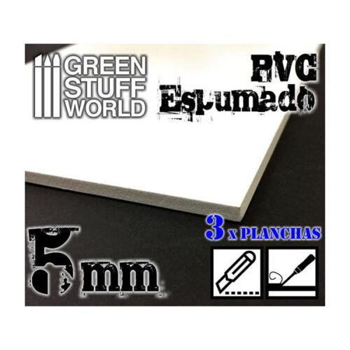PVC Espumado 5mm fabricado por Green Stuff. Comprar PVC Espumado 5mm en EGD Games