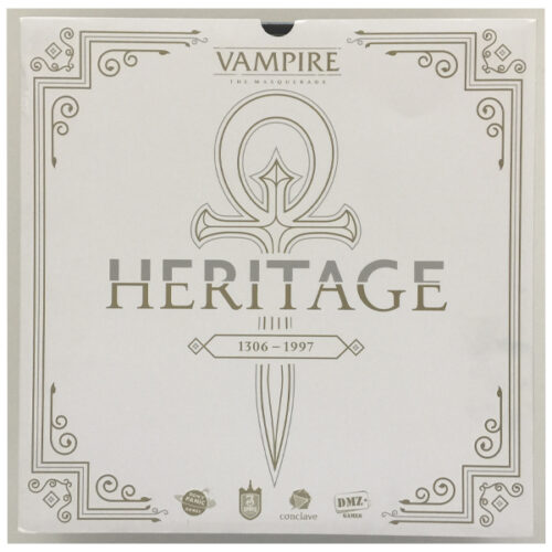 Vampiro La Mascarada Heritage el juego de mesa editado en castellano por DMZ Games. Comprar Vampiro La Mascarada Heritage en EGD Games